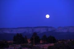 Moonrise bij Nationaal Park Zion Royalty-vrije Stock Fotografie