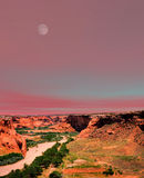 Moonrise Canyon de Chelly Royalty Free Stock Image