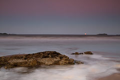 Moonrise at Emu Park. Queensland, Australia Stock Photography