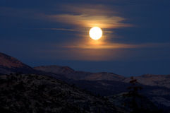 Moonrise from Glacier Point Royalty Free Stock Image