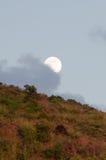 Moonrise i St Kitts Arkivfoto
