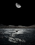 Moonrise Lake Royalty Free Stock Image