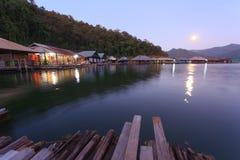 Moonrise at Mae Ngud dam ,Chiang Mai. Mae Ngud dam ,Chiang Mai ,Thailand after sunset Stock Image