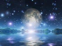 Moonrise vector illustration