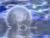 Moonrise royalty free illustration
