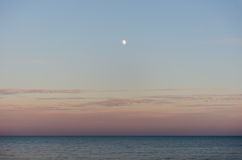 Moonrise. Moon rise at the seaside Royalty Free Stock Photography