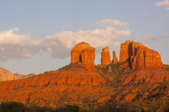Moonrise near Cathedral Rock Stock Photography