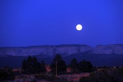 Moonrise no parque nacional de Zion Fotografia de Stock Royalty Free