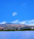 Moonrise Oahu Hawaii Stock Photos