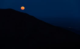 Moonrise over the Appalachian Mountains from Bearfence Mountain, Stock Images