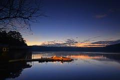 Free Moonrise Over Dock Stock Image - 35646871
