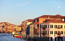 Moonrise over the Grand Canal Royalty Free Stock Image