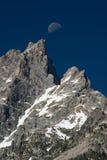 Moonrise over Grote Tetons Royalty-vrije Stock Afbeeldingen