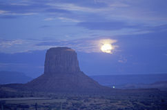 Moonrise Over Monument Valley Stock Image