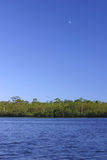 Moonrise Over River. Moonrise Over the Loxahatchee River Stock Photos