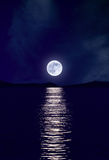 Moonrise over Sea Stock Photos