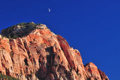 Moonrise over Utah mountains Royalty Free Stock Images