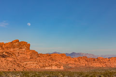 Moonrise Over Valley of Fire Royalty Free Stock Photos