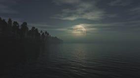 Moonrise (rendição 3D) Foto de Stock