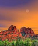 Moonrise Sedona Arizona Royalty-vrije Stock Fotografie