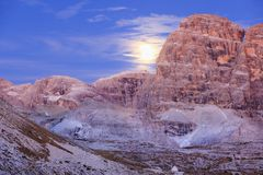 Moonrice della montagna Fotografia Stock Libera da Diritti