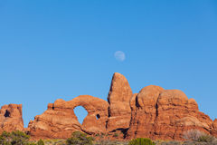 Moonrise at Turret Arch Royalty Free Stock Images