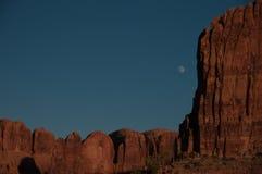 Moonrise in a Utah Canyon Stock Image