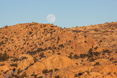 Moonrise at Watson Lake Prescott Arizona Stock Photos