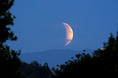 Moonrise zaćmienie Fotografia Royalty Free