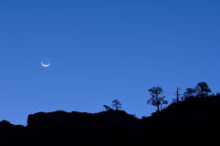Moonrise Zion National Park Stock Photography