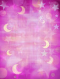 Moons and Stars Background Royalty Free Stock Photos