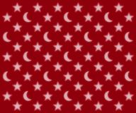 Moons and stars pattern. Glowing moons and stars pattern on a red background Royalty Free Stock Photography