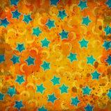 moons stjärnor Royaltyfri Illustrationer