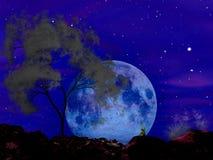 Moonscape奏鸣曲 免版税库存图片