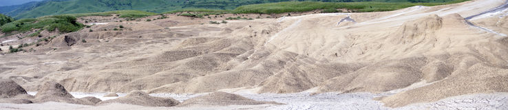 The moonscape Berca Mud Volcanoes Royalty Free Stock Photo