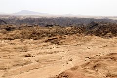 Moonscape canyon - Namibia Africa. Moonscape canyon a dry and hostile landscape - Namibia Africa royalty free stock photos