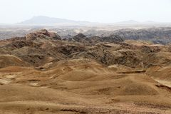 Moonscape canyon - Namibia Africa. Moonscape canyon a dry and hostile landscape - Namibia Africa stock image