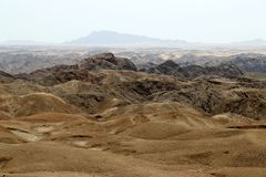 Moonscape canyon - Namibia Africa. Moonscape canyon a dry and hostile landscape - Namibia Africa stock images