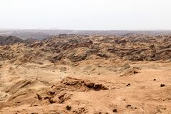 Moonscape canyon - Namibia Africa. Moonscape canyon a dry and hostile landscape - Namibia Africa royalty free stock image