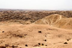 Moonscape canyon - Namibia Africa. Moonscape canyon a dry and hostile landscape - Namibia Africa royalty free stock photo