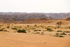 Moonscape canyon - Namibia Africa. Moonscape canyon a dry and hostile landscape - Namibia Africa stock photography