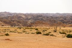 Moonscape canyon - Namibia Africa. Moonscape canyon a dry and hostile landscape - Namibia Africa stock photo