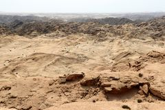 Moonscape canyon - Namibia Africa. Moonscape canyon a dry and hostile landscape - Namibia Africa stock photos