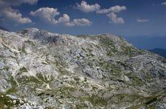 Moonscape i bergen I , Julian Alps Arkivbilder