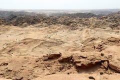 Moonscape jar - Namibia Afryka zdjęcia stock