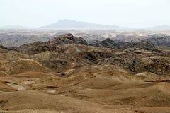 Moonscape jar - Namibia Afryka obrazy stock