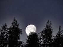Free Moonscape Morning Rise Stock Photography - 169200442