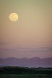 Moonscape over Tsiribihina river in Madagascar Royalty Free Stock Image