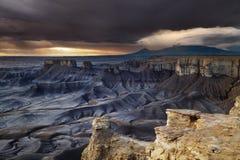 Moonscape pasa por alto en el desierto de Utah Fotos de archivo libres de regalías