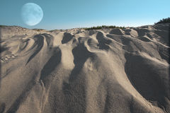 Moonscape surreal Fotografia de Stock